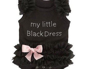 My Little Black Dress Tulle Onesie, Baby Onesie, Baby Dress Onesie, Little Black Dress