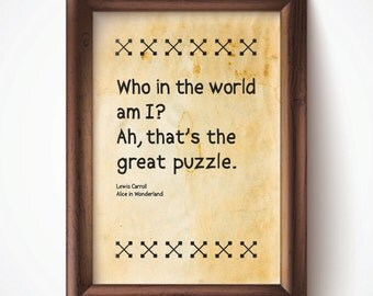 The Great Puzzle Print Parchment 8.5x11 Down the Rabbit Hole Alice in Wonderland