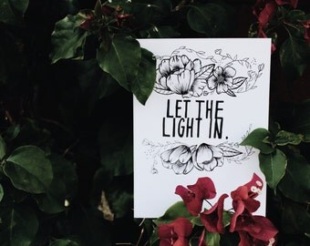 let the light in print