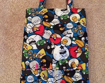 Angry Birds Coloring Tote Set