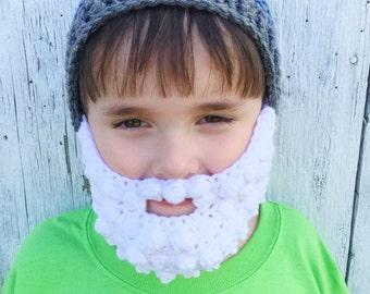 Baby Beard Hat Toddler Beard Hat Children's Beard Hat Men's Beard Hat Custom Beard Hat Crochet Beard Hat