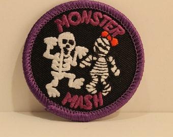 Monster Mash Patch - halloween skeleton zombie trick or treat kjallraven Hershel