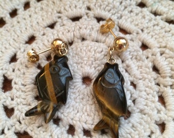 Vintage Tiger's Eye Earrings