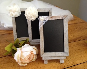 Rustic Wedding Table Number Chalkboards - Wedding Table Signage, Perfect for Rustic, Barn or Beach Weddings - Rehearsal  Table Signage