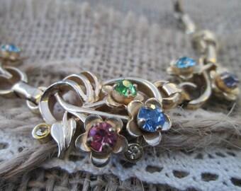 Vintage necklace - rhinestone necklace - Barclay necklace