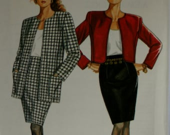 New Look 6479 Misses  Jacket and Skirt Sewing Pattern New Uncut Size 8,10,12,14,16,18,20