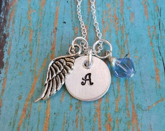 Initial Necklace - Memorial Neckace - Personalized Necklace - Memorial Jewelry - Gift for Girls - Gift for Teens - Gift for Women