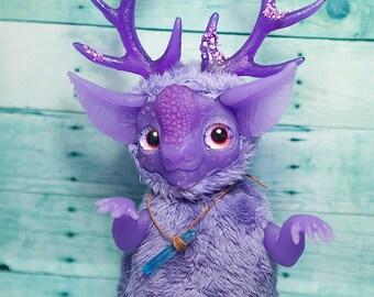 MADE TO ORDER Emental dragon artdoll