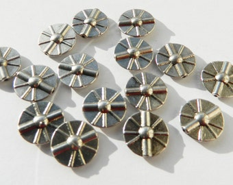 15 x Metal Flat Disc Spacer Beads Spacers 16mm Nickel Colour