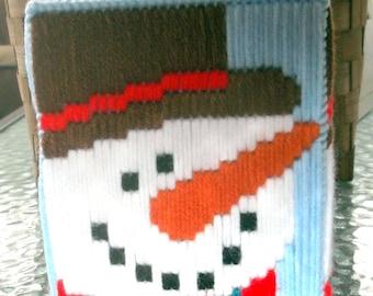 Snowman Tissue Box  Cover