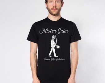Mister Grim: Mister Grim Loves His Mother Short Sleeve T-Shirt