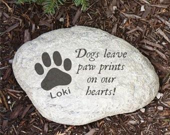 Engraved Dog Memorial Garden Stone Pet Memorial STone