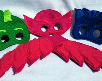 PJ Mask Team Set - Gecko, Owlette and Catboy.