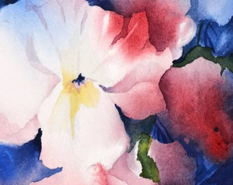 50% Off Boxing Day Sale,After Xmas, Select Print,Modern Floral Watercolor Painting PRINT,Flower Artwork,Wall Art,8x10,Watercolor Floral Art