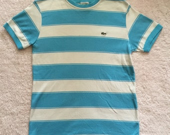 LACOSTE striped tshirt / womens medium
