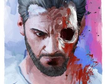 "Wolverine Old Man Logan Abstract Art Panel, 11x17"" art print mounted on board"