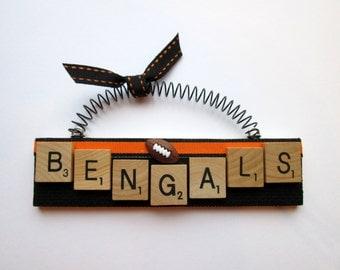 Cincinnati Bengals Football Scrabble Tile Ornaments