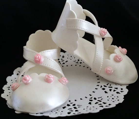 Cake Decorations Baby Shoes : Baby Shoes Cake Topper Shower Cake Topper Baby Shower Favor