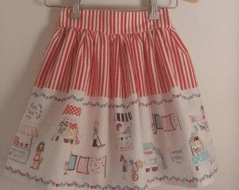 Flat front twirl skirt