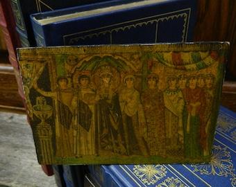 Vintage Medieval Roman Court Picture - Masonite