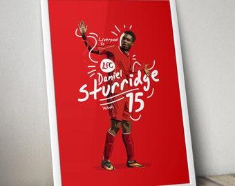 Daniel Sturridge - Liverpool FC Poster Art