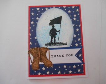 Thank you Veteran or Soldier Greeting Card