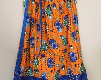 Florida Gator inspired Pillow Case Dress, orange and blue pillowcase dress size 3/4