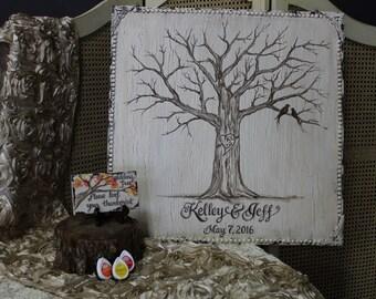 Thumb Print Tree, Thumb Print Wedding Tree, Thumb Print Guest Book, Wedding Tree Guest Book, Finger Print Tree, Guest Book Alternative