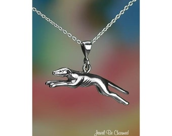 "Sterling Silver Greyhound Necklace 16-24"" Chain or Pendant Only .925"