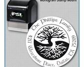 Celtic Tree of Life Return Address Stamp, Tree of Life Stamp, Sacred Tree Stamp, Irish and Celtic Stamp   MS-R52
