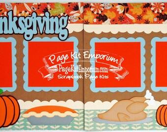 Scrapbook Page Kit Fall Thanksgiving Boy Girl 2 page Scrapbook Layout 42