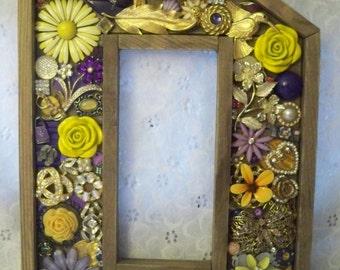 Beautiful Barn Wood Jeweled Letters ~ D  P