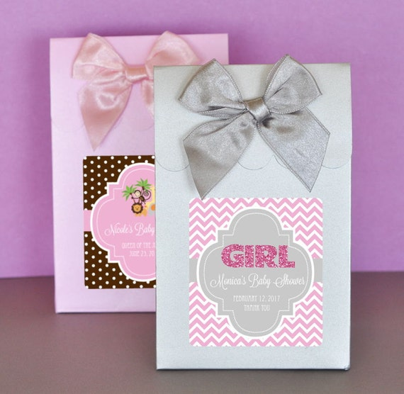candy boxes with bows baby shower favor ideas set of 24 on etsy