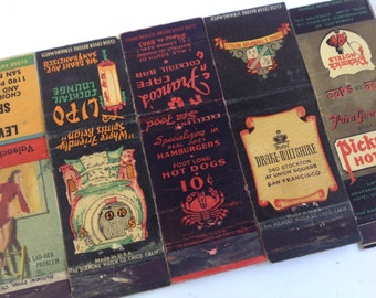 Vintage collection diamond Ohio matchbook covers pin-up hotel lounge