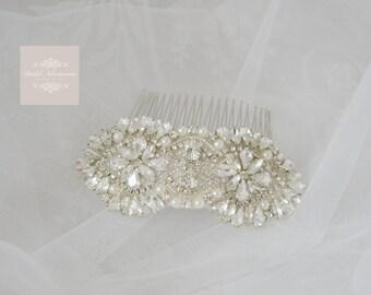 Vintage Inspired Bridal Wedding Crystal Hair comb/Hair piece