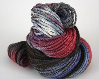 Hand-Painted Bulky 100% Superwash Merino Wool Yarn - Quiet Sunset