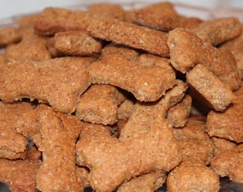Peanut Butter Dog Cookies- 8 oz. Available in all sizes!