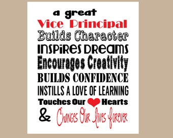 Vice Principal Appreciation Gift, Vice Principal Valentine Gift, Vice Principal Christmas Gift, Vice Principal Printable, Instant Download