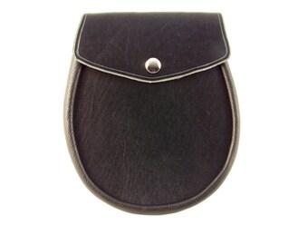 Sporran Leather Black Basic Sporran