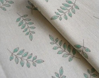 Linen Fabric Leaf By The Yard