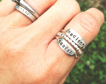 Hand-Stamped Sterling Silver Ring
