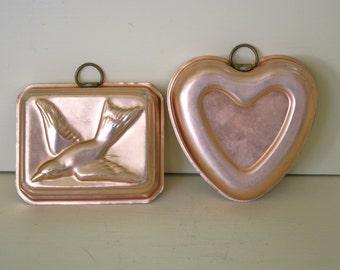 Copper Mold Heart Bird Kitchen Decor