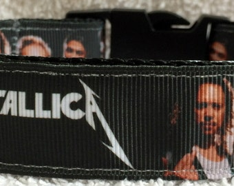 Metallica dog collar