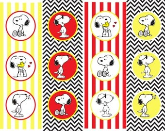 Printable Snoopy Cupcake Toppers/Circle Tags