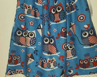 Patriotic Owl 4th of July Dress