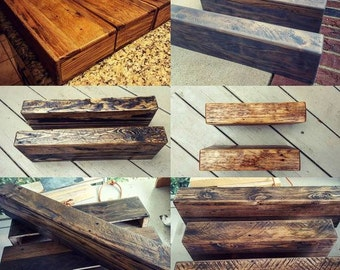 Custom Sizing Chunky Rustic Wood Floating Shelves