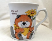 "Vintage Critter Sitters® Cup, Beaver Coffee Mug, ""Same Old Grind,"" Enesco"