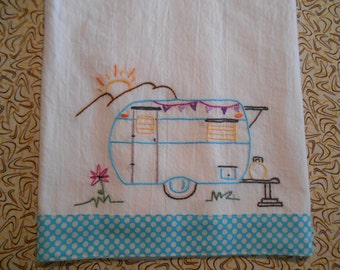 Vintage Aloha Trailer PDF Hand Embroidery Pattern-Instant Download