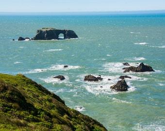 The Rocks From Land, California Coast, Ocean