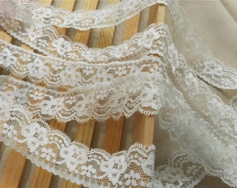 10 yards DIY material red lace dress material wedding embroidery cloth off white lace dress ribbon flower lace